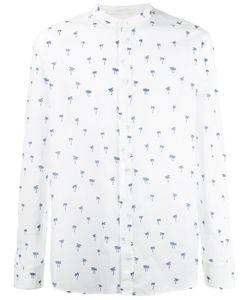 Paolo Pecora | Palm Print Shirt Mens Size 43 Cotton