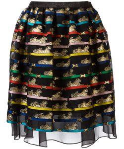 Mary Katrantzou | Tiger Print Algernon Skirt Womens Size 12 Polyester/Silk