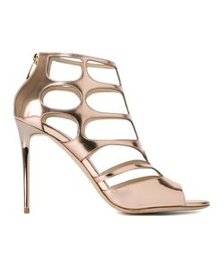 Jimmy Choo | Ren 85 Caged Sandals Womens Size 40 Patent