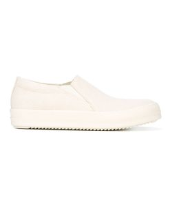 Rick Owens DRKSHDW | Classic Slip-On Sneakers Mens Size 41 Cotton/Leather/Rubber