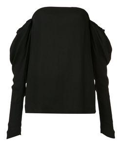 Vera Wang | Draped Off-Shoulder Top Womens Size 12 Silk/Spandex/Elastane/Viscose