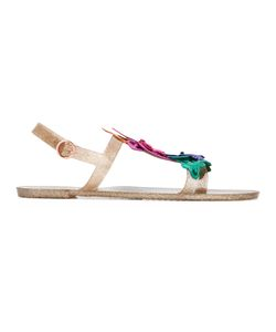 Sophia Webster | Analia Flat Sandals Womens Size 36 Nylon/Plastic/Rubber