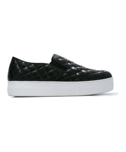 Versus | Quilted Slip-On Sneakers Womens Size 40 Leather/Rubber/Metal Other