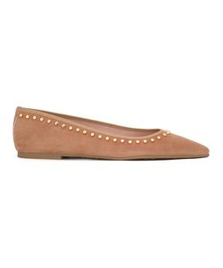 Pretty Ballerinas | Embellished Ballerinas Womens Size 39 Leather/Suede/Rubber/Cotton
