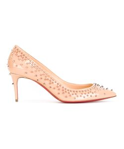 CHRISTIAN LOUBOUTIN | Studded Pumps Womens Size 37.5 Leather/Patent Leather/Metal Other