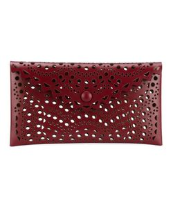 Alaïa | Laser Cut Leather Envelope Clutch Womens Leather
