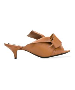 No21   Knot Detail Mules Womens Size 37 Leather