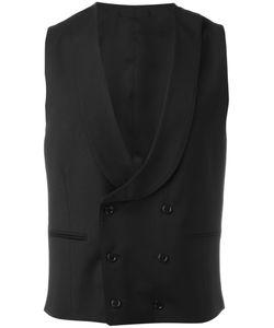 Lardini | Double-Breasted Waistcoat Mens Size 50 Viscose/Cupro/Wool