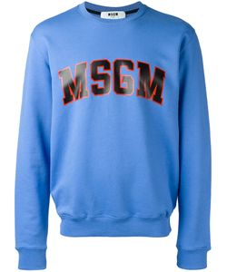MSGM | Logo Print Sweatshirt Mens Size Large Cotton