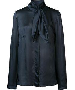 Ryan Roche | Neck Bow Shirt Womens Size 6 Silk