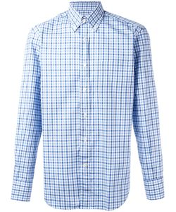 Canali | Checked Print Shirt Mens Size Large Cotton