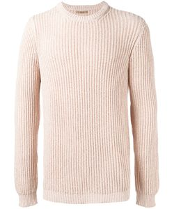 Nuur | Ribbed Detail Jumper Mens Size 48 Cotton/Nylon