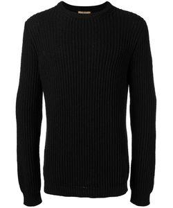 Nuur | Ribbed Trim Jumper Mens Size 48 Cotton/Nylon