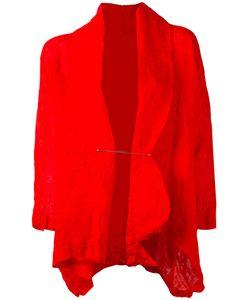 Daniela Gregis | Wrinkled Pinned Jacket Womens Linen/Flax