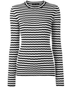 Proenza Schouler | Ribbed Striped Jumper Womens Size Medium Silk/Cashmere