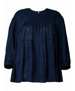 Muveil   Pleated Blouse Womens Size 38 Cotton