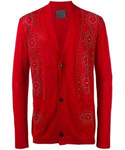 Laneus | Embellished Cardigan Mens Size 50 Cotton