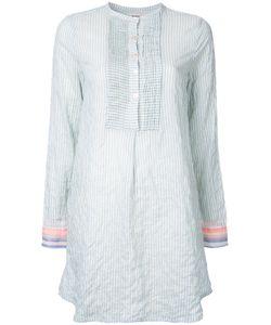 Lemlem   Striped Shirt Dress Womens Size Medium Cotton/Ramie/Polyurethane
