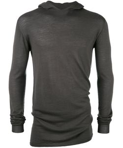 Rick Owens | Fitted Hoodie Mens Size Large Wool