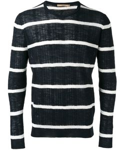 Nuur | Striped Jumper Mens Size 50 Cotton/Linen/Flax/Polyester