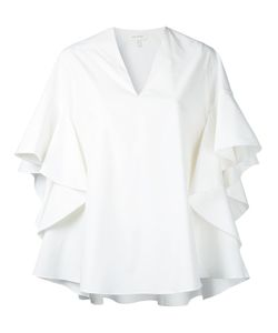 Delpozo | Pleated Blouse Womens Size 38 Cotton