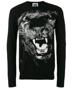 Les Hommes Urban   Lion Print Sweatshirt Mens Size Large Cotton