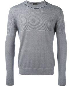 Z Zegna | Striped Sweatshirt Mens Size Xl Silk/Cotton