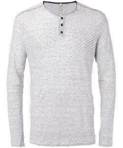 Transit | Striped Longsleeved T-Shirt Mens Size Medium Linen/Flax