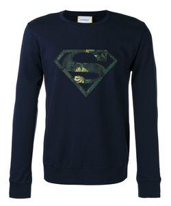 Iceberg | Superman Patch Logo Sweatshirt Mens Size Small Polyamide/Spandex/Elastane/Viscose/Polyester
