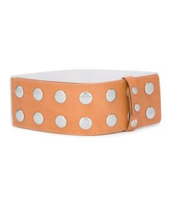 Mm6 Maison Margiela | Studded Belt Womens Leather/Brass