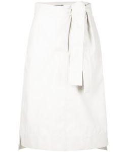 Sofie D'hoore | Tie-Waist Midi Skirt Womens Size 40 Cotton