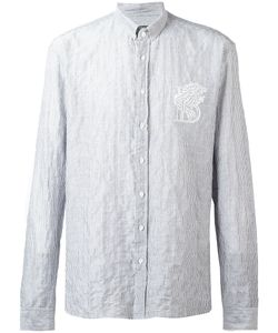 Balmain | Lion Pinstriped Shirt Mens Size 39 Cotton
