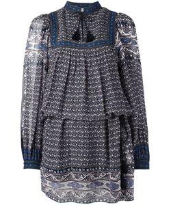 Ulla Johnson | Paisley Print Tassel Tie Dress Womens Size 4 Silk/Polyester
