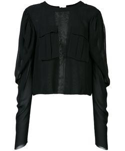 Vera Wang | Tie Back Top Womens Size 0 Silk