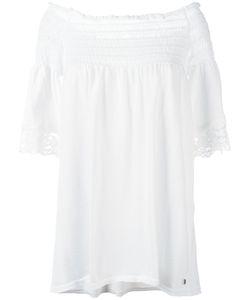 Twin-Set | Off-Shoulder Blouse Womens Size 42 Cotton