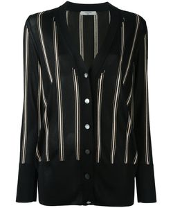 Lanvin | Striped Knitted Cardigan Womens Size Large Viscose