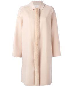 Agnona | Fur Trim Coat Womens Size 38 Mink Fur/Cashmere/Cupro