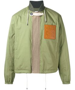 Loewe   Logo Patch Bomber Mens Size 50 Cotton/Polyester/Linen/Flax/Leather