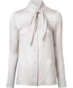 Ryan Roche | Neck Bow Shirt Womens Size 4 Silk