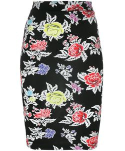 House Of Holland | Rose Print Pencil Skirt Womens Size 6