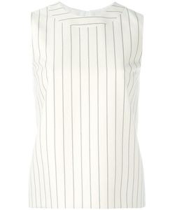 Victoria, Victoria Beckham | Striped Sleeveless Top Womens Size 4 Cotton/Wool/Silk
