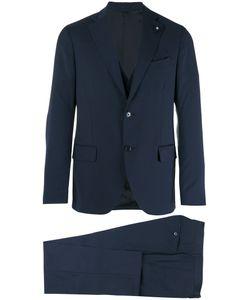Lardini | Two Piece Slim-Cut Suit Mens Size 46 Wool/Viscose/Cupro/Polyester