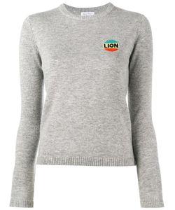 Bella Freud   Lion Intarsia Top Womens Size Xs Wool/Cashmere