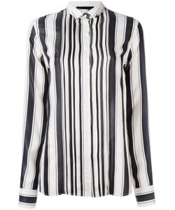 Haider Ackermann | Concealed Fastening Striped Shirt Womens Size 40 Silk/Cotton