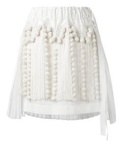No21   Fringed Asymmetric Skirt Womens Size 42 Cotton/Polyester/Viscose