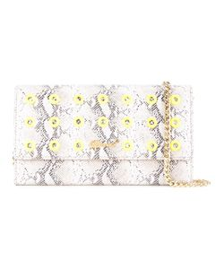 Muveil   Snakeskin Effect Chain Wallet Womens Pig Leather
