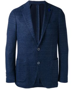 Lardini | Single-Breasted Tailo Blazer Mens Size 50 Cotton/Linen/Flax/Polyester