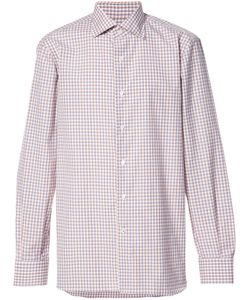 Isaia | Checked Shirt Mens Size 17 Cotton