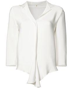 Peter Cohen | Flounce Hem Blouse Womens Size Medium Silk