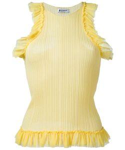 Dondup | Ruffle Trim Tank Womens Size Small Cotton/Polyamide